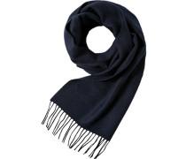 Schal, Wolle, marine gemustert