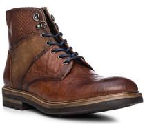 Schuhe Stiefeletten, Leder, cuoio