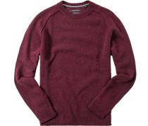 Pullover, Wolle, bordeaux meliert