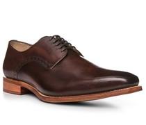 Schuhe Derby, Leder, testa di moro