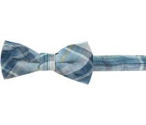 Krawatte Schleife, Baumwolle, blau kariert