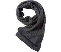 Schal, Baumwolle-Wolle, hellgrau-anthrazit