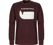 Pullover Sweater, Baumwolle, bordeaux