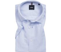 Hemd, Leinen, bleu