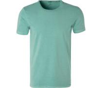 T-Shirt, Body Fit, Baumwolle, mintgrün
