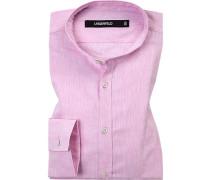Hemd, Slim Fit, Leinen, rosé