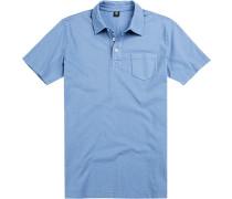 Polo-Shirt Polo, Baumwoll-Jersey, hellblau
