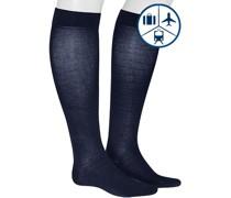 Socken Kniestrümpfe, Baumwolle, navy