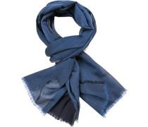 Schal, Seide, jeansblau-nachtblau