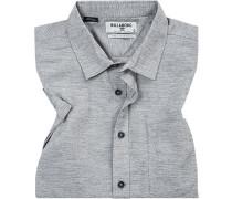 Hemd, Core Fit, Baumwolle, hellgrau meliert