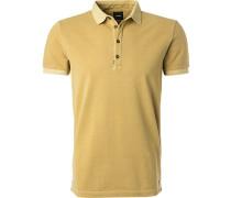 Polo-Shirt Polo, Baumwoll-Piqué, anis