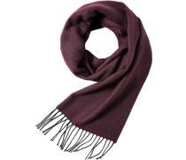 Schal, Wolle, bordeaux gemustert