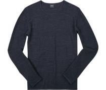 Pullover, Baumwolle, nachtblau