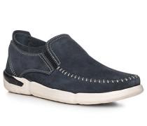 Schuhe Slip Ons, Rindveloursleder