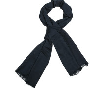 Schal, Modal-Wolle, navy