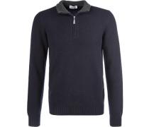 Pullover Troyer, Schurwolle, nachtblau