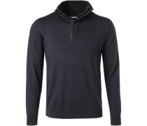 Pullover Troyer, Wolle, navy