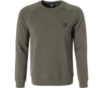 Pullover Sweater, Baumwolle, khaki