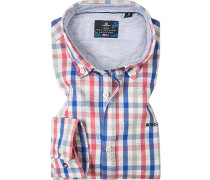 Hemd, Twill, -blau kariert