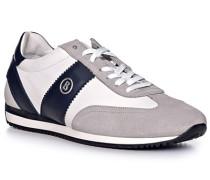 Schuhe Sneaker, Leder, blau-weiß-