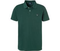 Polo-Shirt Polo Baumwoll-Piqué, tannengrün