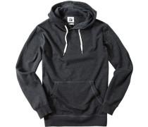 Herren Pullover Sweater Baumwoll-Mix anthrazit meliert grau