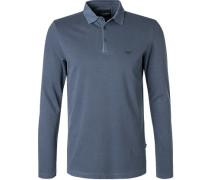 Polo-Shirt Polo, Baumwoll-Piqué, rauchblau