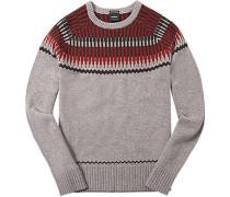 Pullover, Lammwolle, gemustert