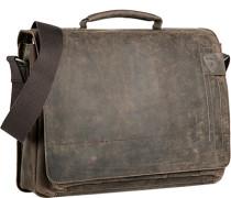 Tasche Aktentasche, Nubukleder, dunkelbraun