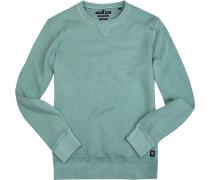 Sweatshirt, Shaped Fit, Baumwolle, mintgrün