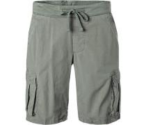 Hose Shorts, Baumwolle, olivgrün
