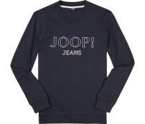 Pullover Sweater, Baumwolle, navy