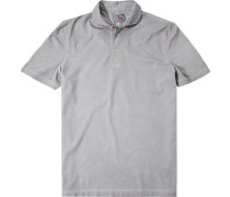 Polo-Shirt, Baumwoll-Jersey, hellgrau