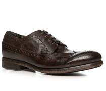 Schuhe Budapester, Büffelleder gebrusht gestoßen