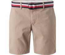 Hose Shorts, Baumwolle, sand