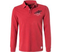 Rugby-Shirt, Baumwolle, feuerrot