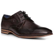 Schuhe Derby, Leder, dunkelbraun