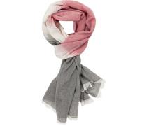 Schal, Baumwolle, -grau-beige gestreift