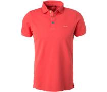 Polo-Shirt Polo, Baumwoll-Piqué koralle