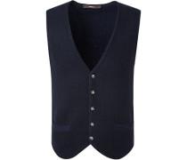 Pullover Weste, Wolle, nachtblau