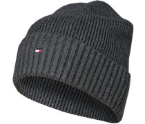 Mütze, Baumwolle-Kaschmir, anthrazit