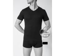 T-Shirts, Baumwolle, schwarz-hellgrau