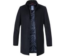 Mantel, Wolle, nachtblau