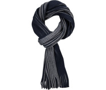 Schal, Wolle, dunkelblau-grau gestreift