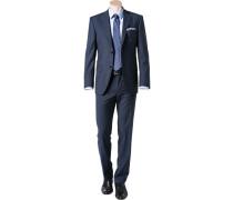 Anzug, Regular Fit, Schurwolle, dunkelblau