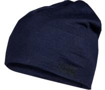 Mütze, Wolle, nachtblau