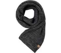 Schal, Woll-Mix, -grau meliert