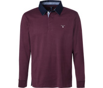 Rugby-Shirt, Baumwolle, bordeaux