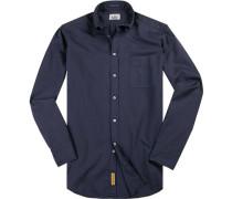 Hemd, Regular-Fit, Baumwolle, navy