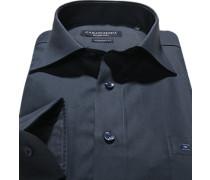 Hemd, Comfort Fit, Popeline, navy